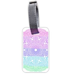 Vintage Pastel Mandala White Luggage Tag (one Side)