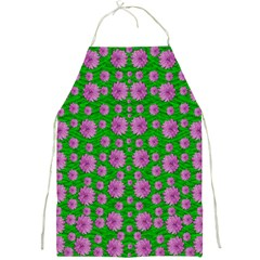 Bloom In Peace And Love Full Print Apron by pepitasart