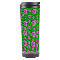 Bloom In Peace And Love Travel Tumbler by pepitasart