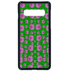 Bloom In Peace And Love Samsung Galaxy S10 Seamless Case(black) by pepitasart