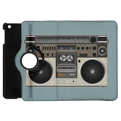 Radio Cassette Speaker Sound Audio Apple Ipad Mini Flip 360 Case by Simbadda