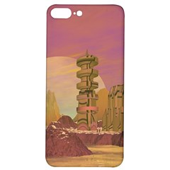 Planet Rocks City Base Fiction Iphone 7/8 Plus Soft Bumper Uv Case by Simbadda