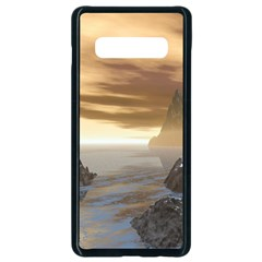Planet Moon Rocks City Fiction Samsung Galaxy S10 Plus Seamless Case (black)