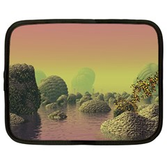 Planet Water Sea Landscape Space Netbook Case (large) by Simbadda