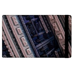 Fractal 3d Pattern Graphics Model Apple Ipad 2 Flip Case by Simbadda