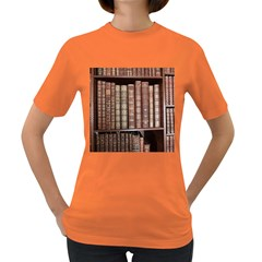 Library Books Knowledge Women s Dark T-shirt by Simbadda