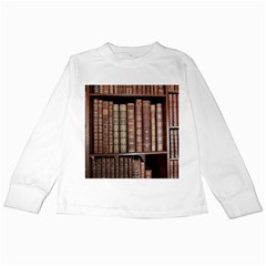 Library Books Knowledge Kids Long Sleeve T Shirts