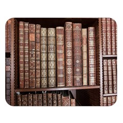 Library Books Knowledge Double Sided Flano Blanket (large)