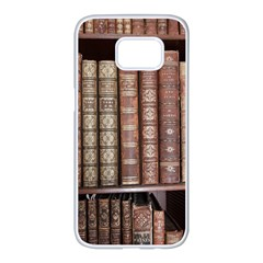 Library Books Knowledge Samsung Galaxy S7 Edge White Seamless Case