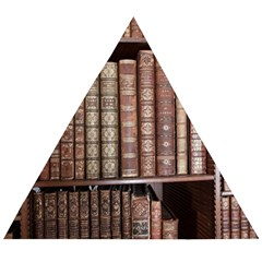 Library Books Knowledge Wooden Puzzle Triangle by Simbadda