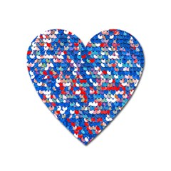 Funky Sequins Heart Magnet by essentialimage