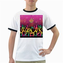 Dancing Colorful Disco Ringer T by Bajindul