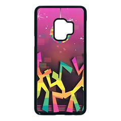 Dancing Colorful Disco Samsung Galaxy S9 Seamless Case(black)