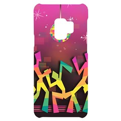 Dancing Colorful Disco Samsung S9 Black Uv Print Case by Bajindul