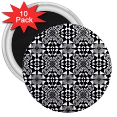 Fabric Geometric Shape 3  Magnets (10 Pack)  by HermanTelo