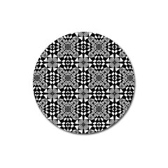 Fabric Geometric Shape Magnet 3  (round) by HermanTelo