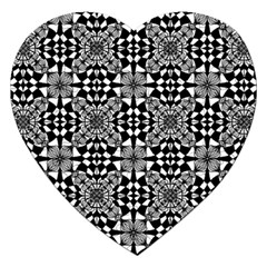 Fabric Geometric Shape Jigsaw Puzzle (heart)