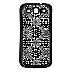 Fabric Geometric Shape Samsung Galaxy S3 Back Case (black)