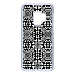 Fabric Geometric Shape Samsung Galaxy S9 Seamless Case(white)