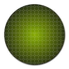 Hexagon Background Plaid Round Mousepads