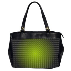 Hexagon Background Plaid Oversize Office Handbag (2 Sides) by Mariart