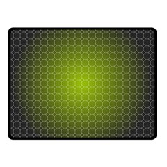 Hexagon Background Plaid Double Sided Fleece Blanket (small)  by Mariart