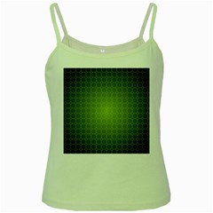 Hexagon Background Plaid Green Spaghetti Tank
