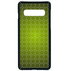 Hexagon Background Plaid Samsung Galaxy S10 Seamless Case(black)