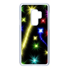 Fireworks Star Light Samsung Galaxy S9 Plus Seamless Case(white) by AnjaniArt