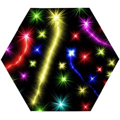 Fireworks Star Light Wooden Puzzle Hexagon
