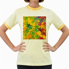 Star Homepage Abstract Women s Fitted Ringer T Shirt