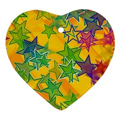 Star Homepage Abstract Heart Ornament (two Sides)
