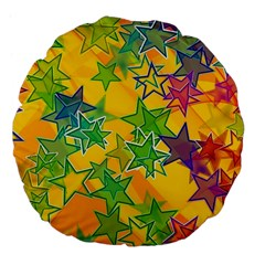 Star Homepage Abstract Large 18  Premium Flano Round Cushions
