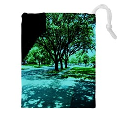 Hot Day In Dallas 5 Drawstring Pouch (xxxl) by bestdesignintheworld