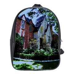 Hot Day In Dallas 7 School Bag (large) by bestdesignintheworld