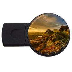 Painting Oil Painting Photo Painting Usb Flash Drive Round (2 Gb) by Sudhe