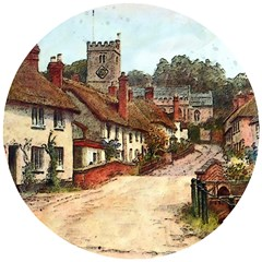 East Budleigh Devon Uk Vintage Old Wooden Puzzle Round by Sudhe