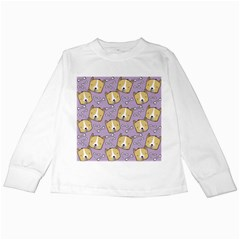 Corgi Pattern Kids Long Sleeve T-shirts