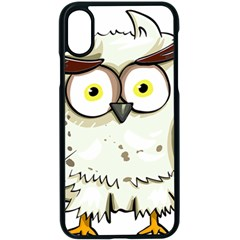Owl Bird Eyes Cartoon Good Iphone X Seamless Case (black)