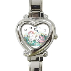Illustration Vector Unique Unicorn Heart Italian Charm Watch