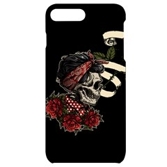 Skull Rose Fantasy Dark Flowers Iphone 7/8 Plus Black Uv Print Case by Sudhe