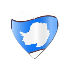 Waving Proposed Flag Of Antarctica Heart Magnet by abbeyz71