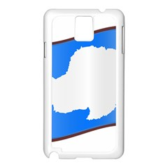 Waving Proposed Flag Of Antarctica Samsung Galaxy Note 3 N9005 Case (white) by abbeyz71
