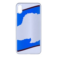 Waving Proposed Flag Of Antarctica Iphone Xs Max Seamless Case (white) by abbeyz71