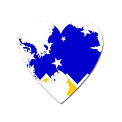 Chilean Magallanes Region Flag Map Of Antarctica Heart Magnet by abbeyz71