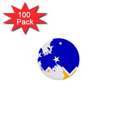 Chilean Magallanes Region Flag Map Of Antarctica 1  Mini Buttons (100 Pack)