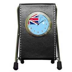 Proposed Flag Of The Australian Antarctic Territory Pen Holder Desk Clock by abbeyz71