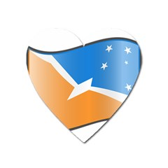 Waving Flag Of Tierra Del Fuego Province, Argentina Heart Magnet by abbeyz71