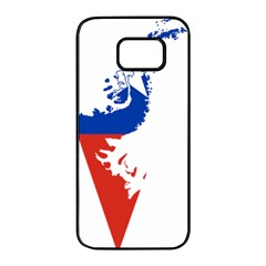 Flag Map Of Chilean Antarctic Territory Samsung Galaxy S7 Edge Black Seamless Case by abbeyz71