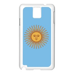 Unofficial Flag Of Argentine Cordoba Province Samsung Galaxy Note 3 N9005 Case (white) by abbeyz71